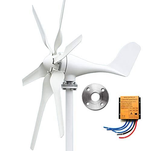coldwind 24V 400W Generador de Turbina de Viento Aerogenerador de 3/5/6 Palas Turbina Eólica de Aleación de Bajo Ruido de Alta eficiencia-F