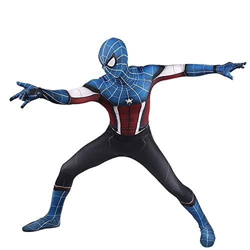 XNheadPS Vengadores Capitán América Disfraces 3D Imprimir Cosplay Mono Carnaval Halloween Traje superhéroe Traje Disfraces para Fiesta Medias película Accesorios,Blue- Kid XL 145~155cm