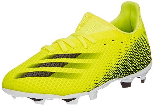 adidas X GHOSTED.3 FG J, Zapatillas de fútbol, Amasol/NEGBÁS/AZUREA, 30.5 EU
