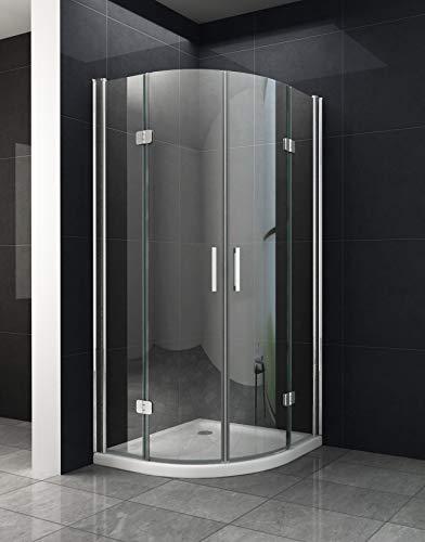 Viertelkreis Duschkabine Dusche Saldo 90 x 90 x 195cm / 8 mm/ohne Duschtasse