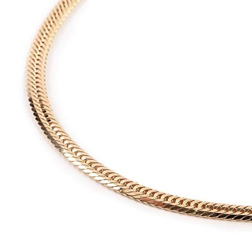 18金 喜平 ネックレス 12面 トリプル 50g - 60cm 中留(中折) ゴールド メンズ レディース チェーン K18 造幣局検定マーク刻印入