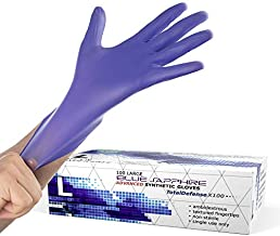 Synthetic Nitrile Disposable Gloves Large -100 Pack -Latex Free Medical Gloves