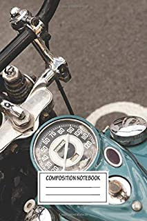 Composition Notebook: Cars Vintage Harley Davidson Automotive Works Wide Ruled Note Book, Diary, Planner, Journal for Writing