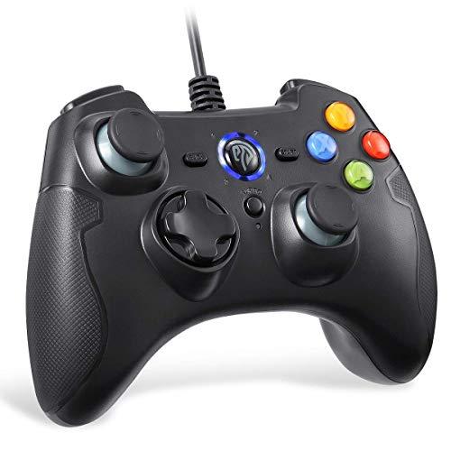 EasySMX [Manette PC PS3 Filaire] Manette PS3 Gamepad Filaire avec Double Vibration pour PC/Android / PS3 / TV Box(Noir)