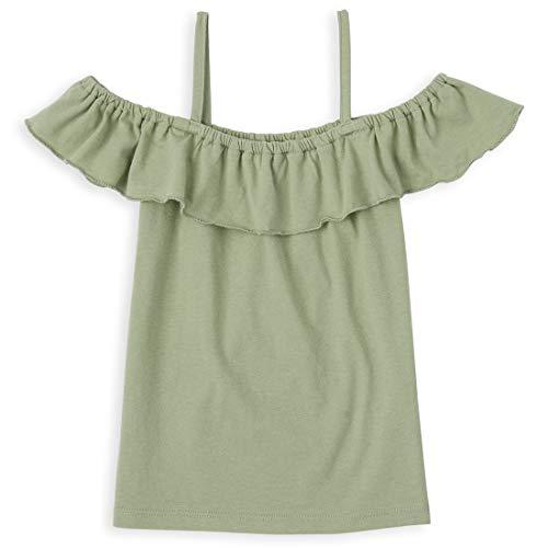 The Children's Place Girls' Cold Shoulder Top, Misty Glen, S (5/6)