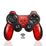 Profesionales E-Sports 2.4G Controlador Inalámbrico, Arquitectura Clásica de PS3 Posicionamiento Preciso Controlador de Juego Alta Precisión Joystick Ergonómica Ondulada Asa Dual Vibración PC Gamepad