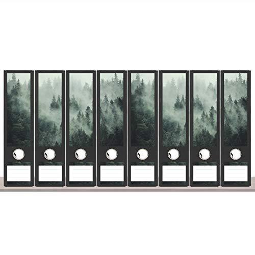 sendmoments Etiketten für Aktenordner, Rückenschilder bunt, 12 breite Aufkleber für Ordnerrücken, selbstklebende Label Klebeetiketten für breite Ordner, Kleberücken mit Beschriftung für Ordner