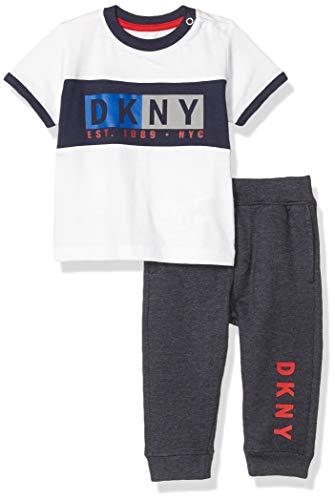 DKNY Baby Boys' Pants Set, Yankee Dress Blue Heather, 24M