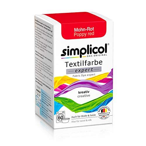 Simplicol Textilfarbe expert Mohn-Rot 1703: Farbe für kreatives, einfaches Färben in der Waschmaschine oder manuell
