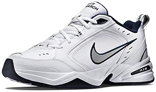 Nike Air Monarch Iv, scarpa sportiva Tutto Sport Uomo, (Blanc Midnight Navy Metallic Silver), 10.5 M US