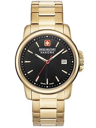 Swiss Military Hanowa Unisex Erwachsene Analog Quarz Uhr mit Edelstahl Armband 06-5230.7.02.007