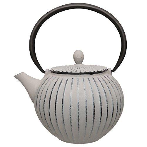 Berghoff japanischen Gusseisen-Ei Teekanne, 1000ml 1L, grau
