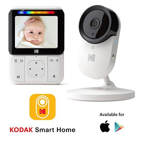 Monitor Bebé KODAK CHERISH C220 — Vigilabebé WiFi con cámara y audio, App móvil, monitor de 2.8…