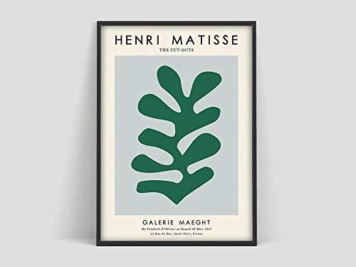 Póster de Henri Matisse Coral, Lámina de Matisse, Póster de Matisse, Hoja de Henri Matisse, pintura en lienzo sin marco B 70x100cm