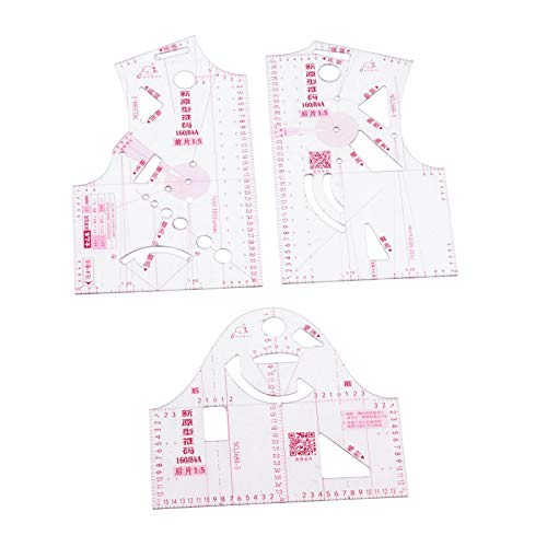 oshhni 1: 5 Regla de Diseño de Tela para Mujer Medida Ropa Regla de Prototipo Sastre,Regla de Costura, Regla de Corte Multiusos para Costura