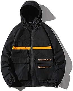 HAWEEL Hooded Trend Embroidery Casual Youth Jacket for Men Windbreaker Jacket