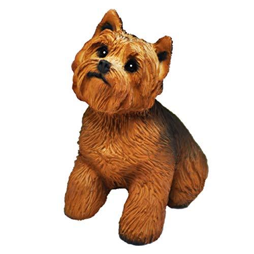 Figura Perro Yorkshire Terrier, Estatua de Perro, Escultura de Resina, Altura: 11cm.
