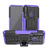 BEIJING ♋ PROTECTIVECOVER+ / for Huawei Honor Play 3 / P40E Textura de neumáticos TPU + PC Funda Protectora con Titular (Rojo), Fashion Phone Funda para Protector (Color : Purple)