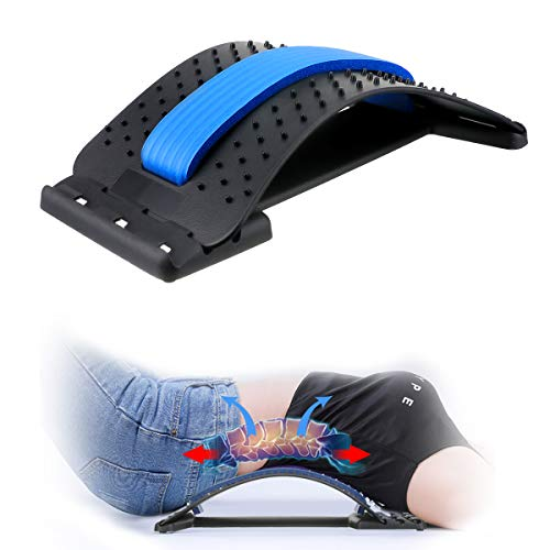 Back Stretcher,Lumbar Support Device Multi-Level Spinal Lumbar Back Stretcher Spine Deck Back Stretching Treatment Back Massager