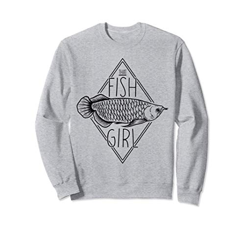 Arowana, die Fischmädchen-Aquarium-Hobby Sweatshirt