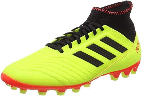 Adidas Predator 18.3 AG, Zapatillas de Fútbol Hombre, Amarillo (Amasol/Negbás/Rojsol 000), 44 2/3 EU