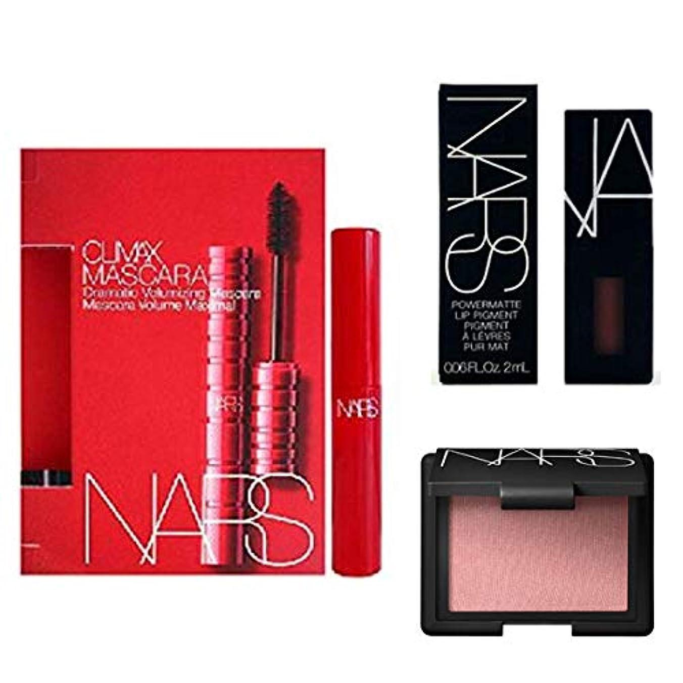 織る黒人エラーNARS(ナーズ) Mini 3set - Mascara(Explict Black) + Blush(Orgasm) + Lip Pigment(American Woman) [海外直送品] [並行輸入品]