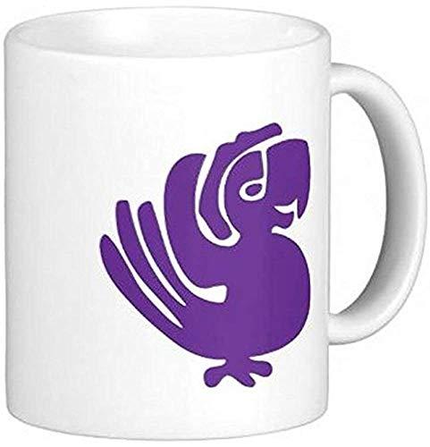 Lila Papageien-Keramik-Kaffeetasse-Tassen
