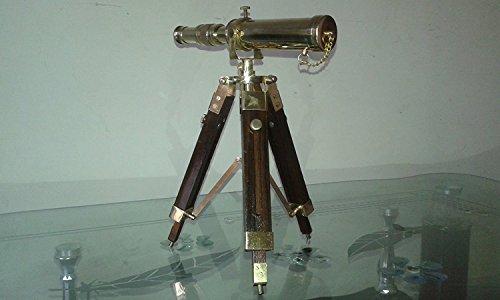 Safa - Telescopio náutico Vintage Azul Marino trípode