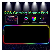 ノートパソコン用冷却パッド 400x900mmプレイラージLEDバックライトキーボードパッド滑り止めラバーマットマウスパッド 急速冷却 (Colore : 250x350x3mm, Spedito da : CHINA)