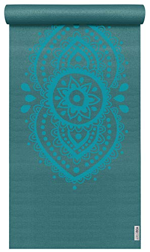 Yogistar Yogamatte Basic Art Collection Ajna Chakra Petrol