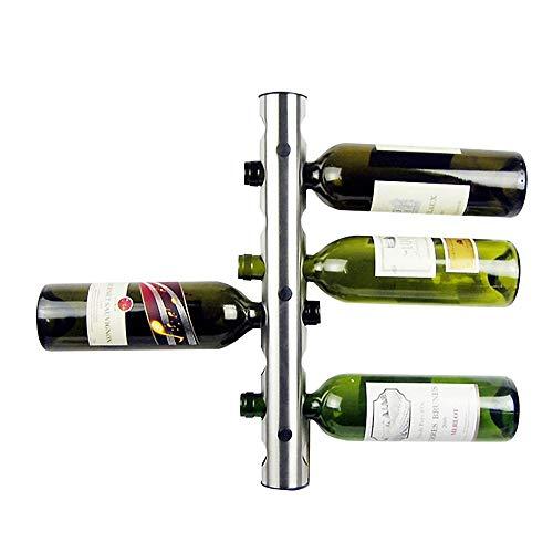 Wine Rrack Kreative 8 Löcher Metall Edelstahl Wand Weinflaschenhalter Weinregal Halter Einzigartig for Bar Dekoration