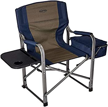 Kamp-Rite Director s Chair with Side Table & Cooler Blue
