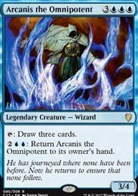 Magic the Gathering - Arcanis The Omnipotent - Arcanis l'Onnipotente - Commander 2017