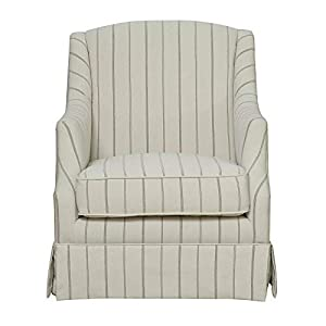Cream and Charcoal Stripe Swivel Glider with Glider and 360 Swivel-Rocking Chair-Rocking Chair for Nursery-Baby Rocker-Glider Rocker with Ottoman-Glider Rocker-Rocker Recliner-Nursery Rocking Chair