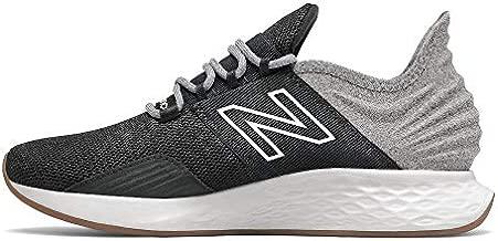 New Balance Women's Fresh Foam Roav V1 Sneaker, Black/Light Aluminum, 8