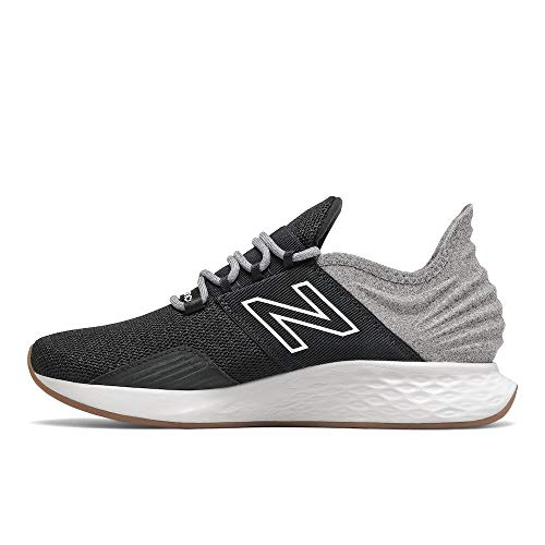 New Balance Women's Fresh Foam Roav V1 Sneaker, Black/Light Aluminum, 7