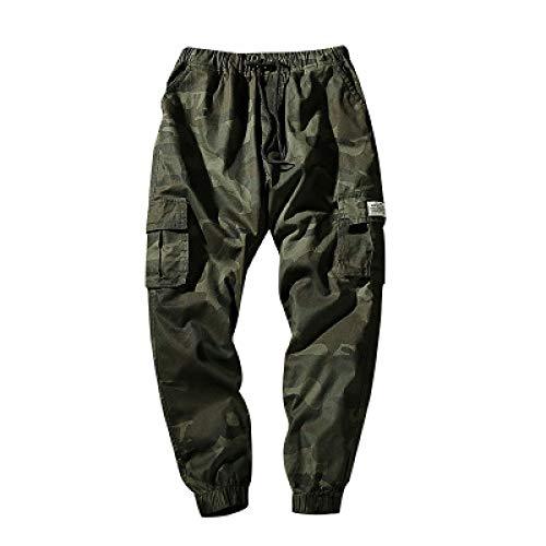 Katenyl Pantalones Cargo de Trabajo de Combate de Camuflaje para Hombre, Ropa de Calle al Aire Libre, Bolsillo con Costuras para Acampar, Pantalones Ajustados de Moda de Talla Grande 4XL