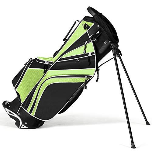 Tangkula Golf Stand Bag w/6 Way Divider Carry Organizer Pockets Storage...