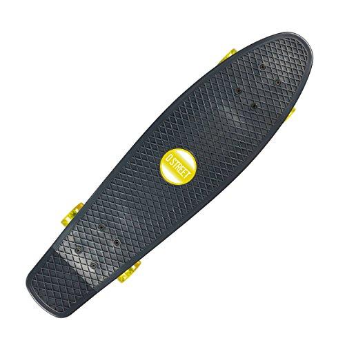 D Street Polyprop 23 Mini Cruiser Skateboard (Kelly/Yellow) 2015