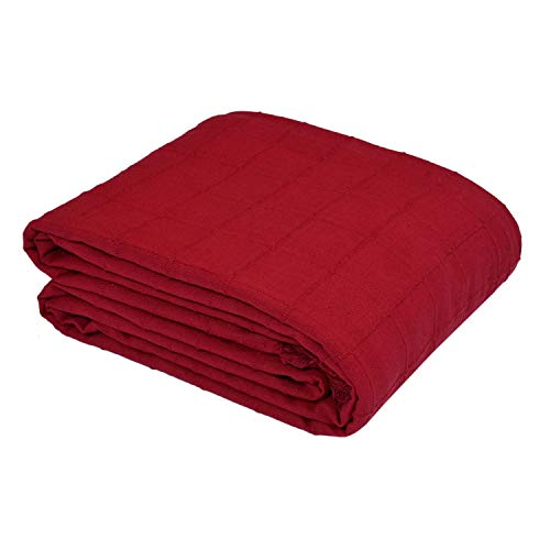 100% Cotton Throw Blanket For Bed Sofa Couch Chair Soft Woven Covers 3 Seater Sofa OR King Size Bed (90