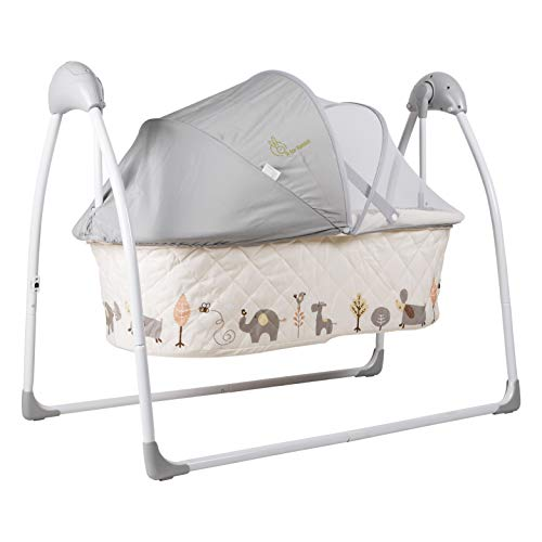 R for Rabbit Lullabies Automatic Swing Cradle with Remote Control (Cream)