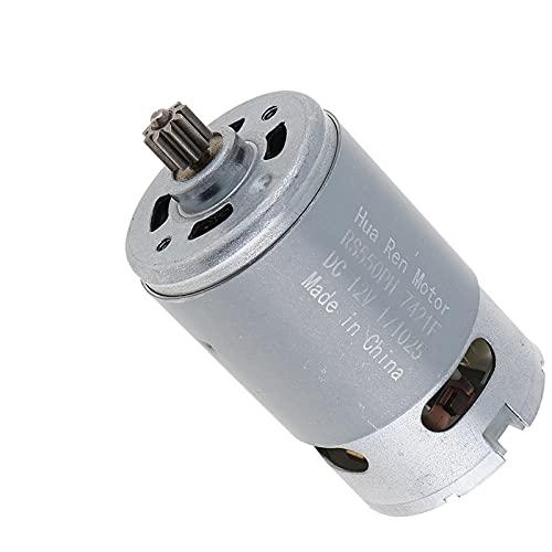Dc Motor,Motor De Corriente Continua Motor 9/11/12 Dientes 1 2V 16.8V 21V 25V DC Caja de engranajes de torsión alta de dos velocidades del motor para destornillador de broca inalámbrico
