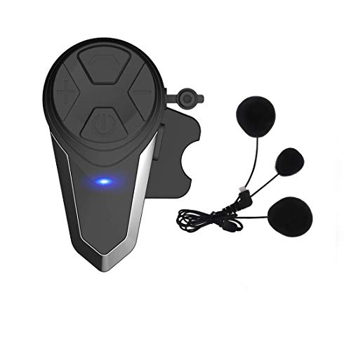 THOKWOK Motorcycle Bluetooth Headset,BT-S3 1000m Helmet Headphones for Snowmobile Motorcycle Bluetooth Communication System Ski Intercom Up to 3 Riders(Soft Microphone,Pack 1)