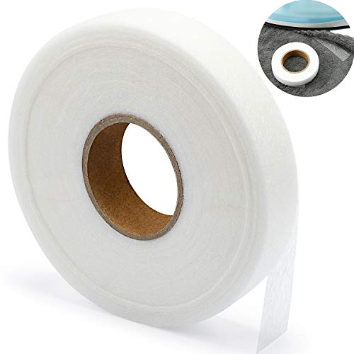 Iron-on Hemming Tape Fabric Fusing Tape Fusible Bonding Web Adhesive Tape for Bonding Clothes Jeans Pants Collars, 100 Yards (3/4 in)