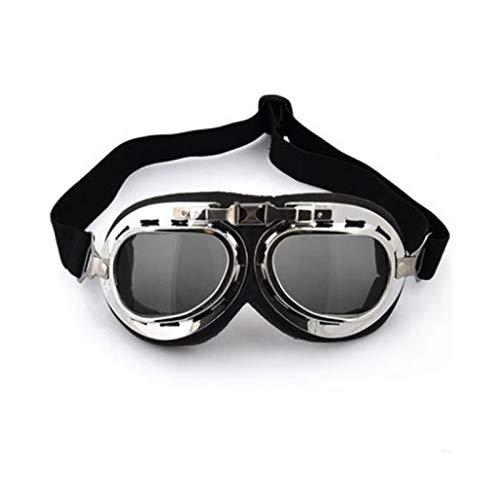 N\A Gafas de deporte al aire libre, estilo aviador, gafas de esquí, snowboard, patinaje, motos de nieve, anti-UV, gafas de sol retro volador piloto Jet casco gafas UV400 (color: bronceado)