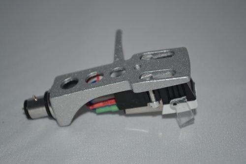 Zilveren platenspeler Headshell Berg met cartridge voor Gemini XL500 Mk2, XL 300, TT 03, XLB D40, D50 XLD, TT 02, SA 600, TT 01, HD15, PT 1000, PT 2100 XL 600 platenspeler