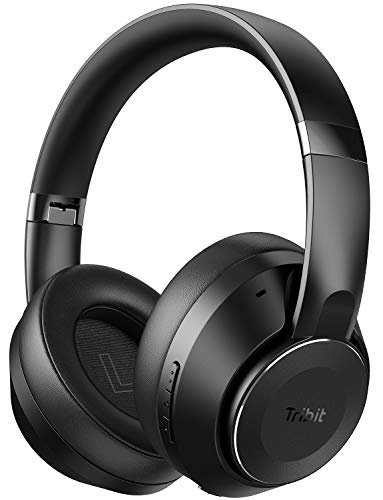 Tribit QuietPlus 78 Active Noise Cancelling Headphones, Bluetooth 5.0 Wireless Headphones Over Ear 35 Hrs Playtime, Deep Bass, Digital Active Noise Cancellation, Foldable Headset for Home, Office