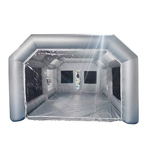 Cabina pulverizadora hinchable para tienda de campaña, cabina de pintura, cabina de pulverización, portátil, pintura en spray para pintura DIY (26 x 15 x 10 m)