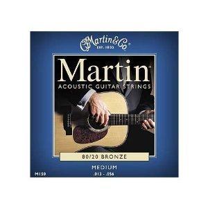 Martin Gitarrensaiten für Akustikgitarren (80/20, Bronzeumwicklung, Stärke Medium 0.013 - 0.056)