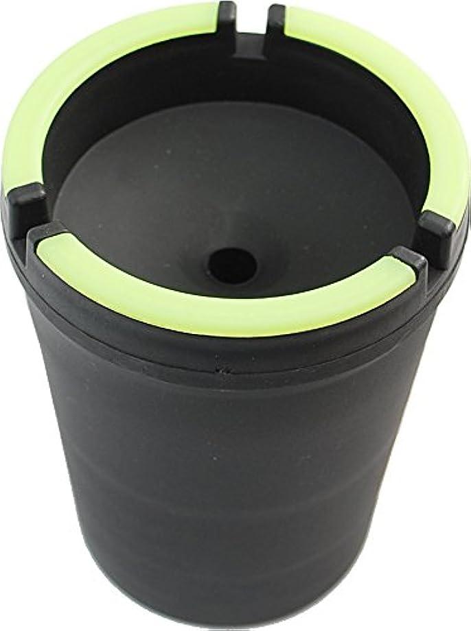 Glow in The Dark Cup-Style Self-Extinguishing Cigarette Ashtray - Black - Jumbo